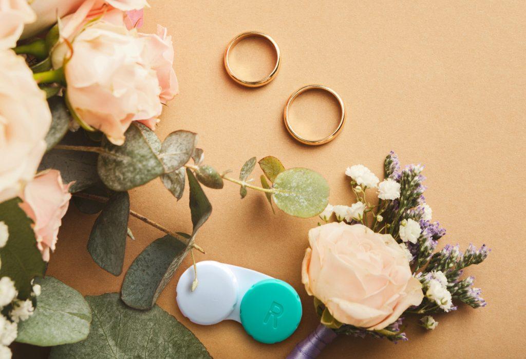 contact lenses wedding day