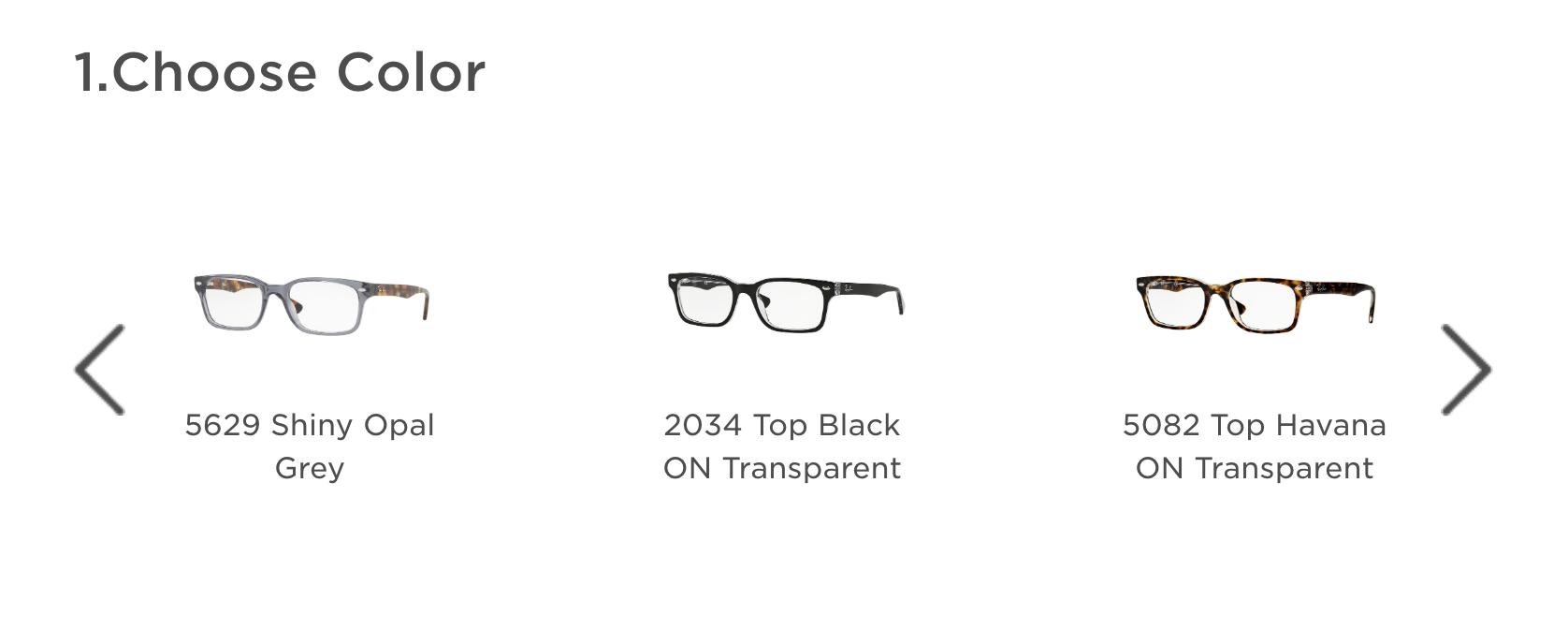 color options for eyeglasses frames