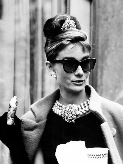 Hepburn in cat-eye frames